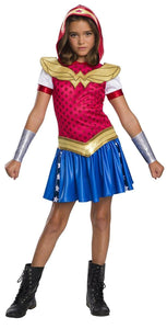 DC Superhero Girls Wonder Woman Child's Costume Hoodie Dress