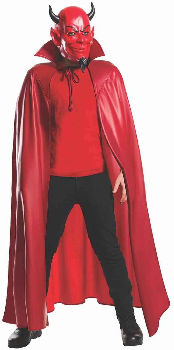 Scream Queens Deluxe Red Devil Costume Mask & Cape Set Adult