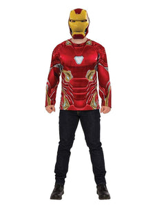Marvel Avengers Infinity War Iron Man Long Sleeve Adult Costume Top & Mask - STD