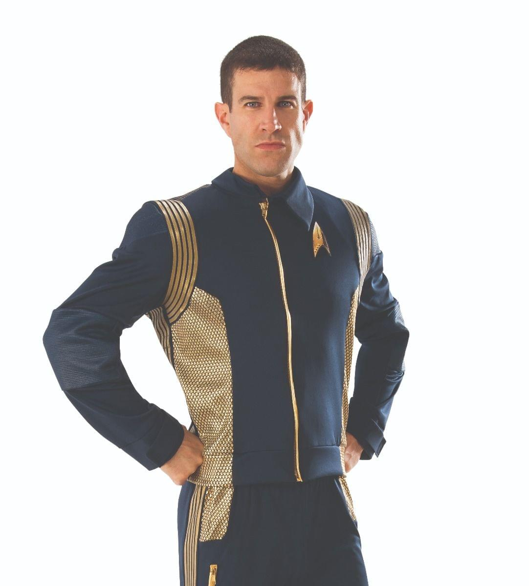 Star Trek Discovery Command Uniform Gold Male Adult Costume Jacket X-Large