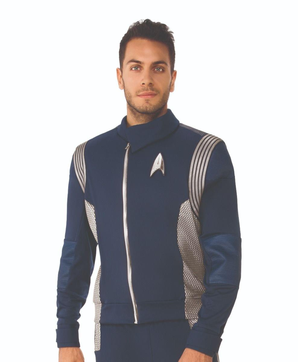 Star Trek Discovery Science Uniform Silver Male Adult Costume X-Large