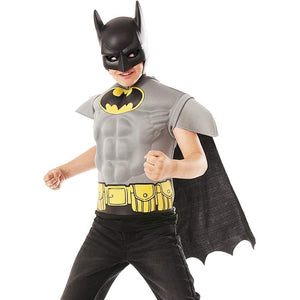 Batman Grey Muscle Chest Shirt Child Costume