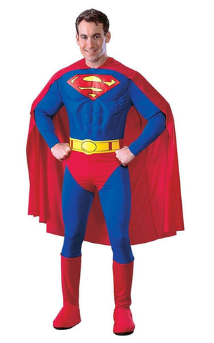 Superman Deluxe Muscle Chest Costume Adult