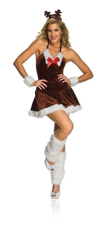 Sexy Christmas Festive Female Reindeer Adult Costume