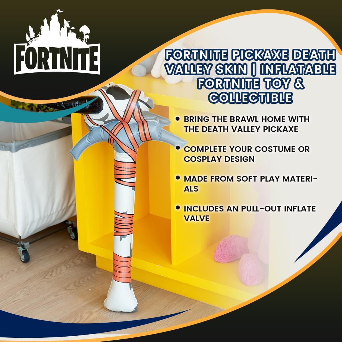 Fortnite Death Valley Skin Inflatable Pickaxe Costume Accessory