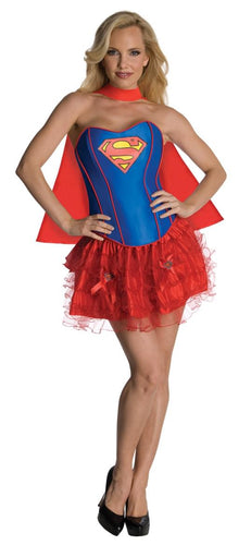 Supergirl Sexy Corset Dress Costume Adult