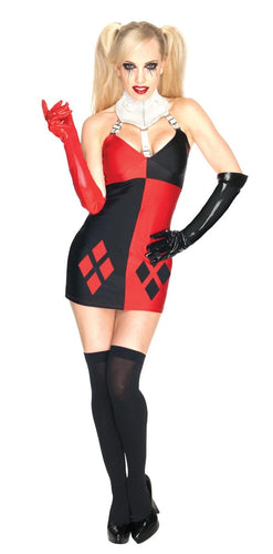 Batman Super Villain Harley Quinn Sexy Costume Dress Adult