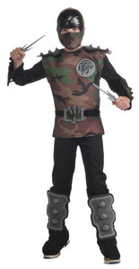 Jungle Camouflage Ninja Jumpsuit Costume Child