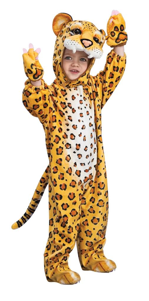 Orange Leopard Jumpsuit Costume Child Toddler