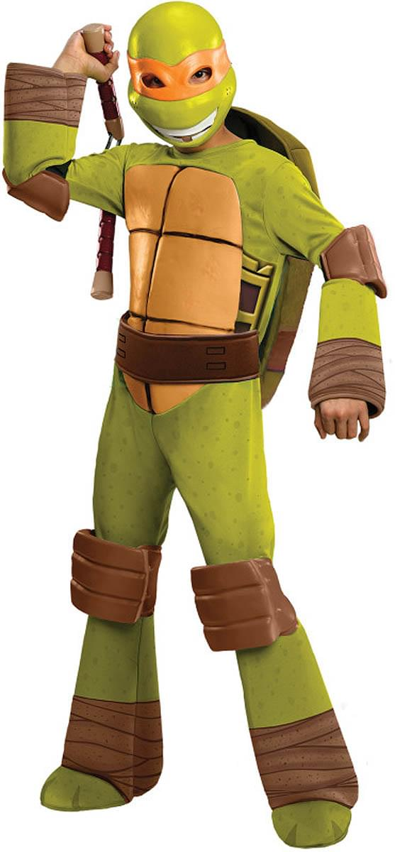 T.M.N.T. Deluxe Michelangelo Costume Child Large