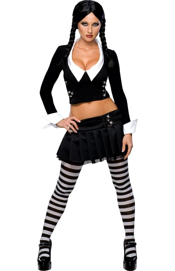 Addams Family Sexy Wednesday Adult Costume