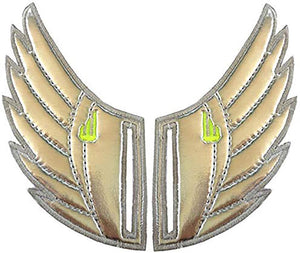 Shwings Shoe Accessories: Silver Foil Wings Slotted
