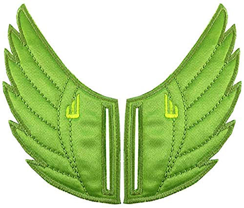 Shwings Shoe Accessories: Apple Green Wings Slotted