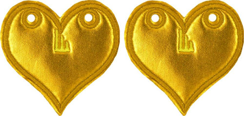 Shwings Shoe Accessories: Gold Foil Heart