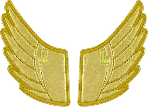 Shwings Shoe Accessories: Gold Foil Wing Clips