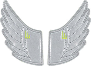 Shwings Shoe Accessories: Silver Wing Clips