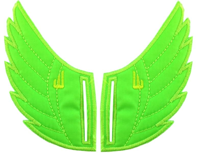 Shwings Shoe Accessories: Neon Lime Wings Slotted