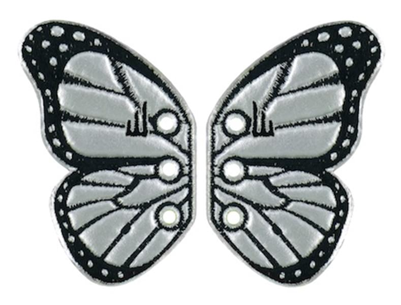 Shwings Shoe Accessories: Silver Foil Butterfly