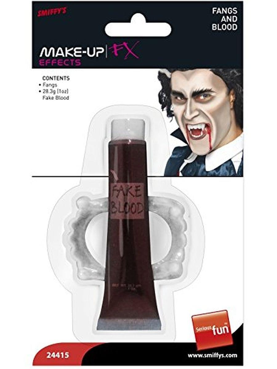Vampire Adult Costume Fangs And Blood