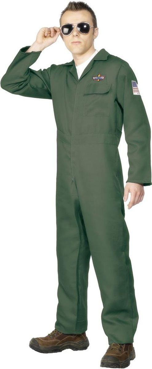Airplane Aviator Khaki Jumpsuit Costume Adult