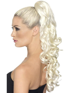 Divinity Costume Clip-On Hair Extension: Curly Blonde