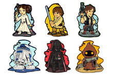 Load image into Gallery viewer, Star Wars Derek Laufman Collector Series Enamel Pins, Set of 6