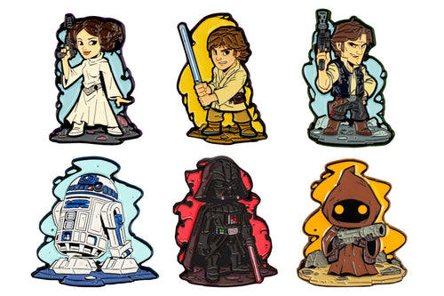 Star Wars Derek Laufman Collector Series Enamel Pins, Set of 6