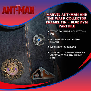 Marvel Ant-Man and the Wasp Collector Enamel Pin - Blue Pym Particle