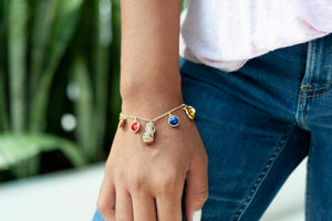 Marvel Avengers Endgame Infinity Stone Charm Bracelet | Measures Up To 8 Inches