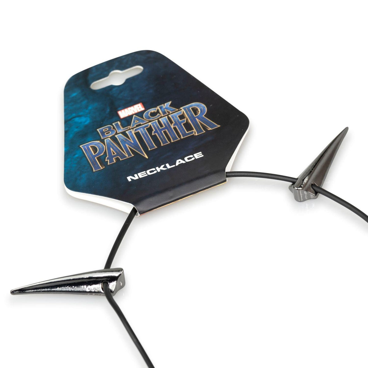 Marvel Black Panther Claw Necklace (10 Steel Claws, Leather Collar)