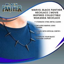 Load image into Gallery viewer, Marvel Black Panther Necklace | Movie Inspired Collectible | Wakanda Necklace