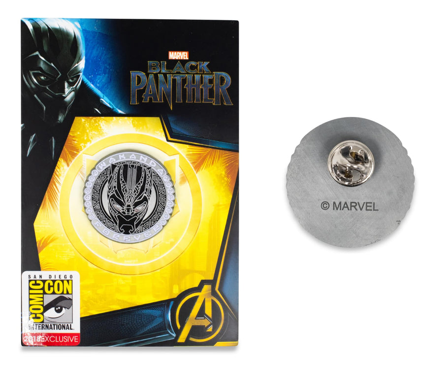 "Marvel Black Panther ""Wakanda Forever"" Glow In The Dark Enamel Pin, SDCC Exclusive"