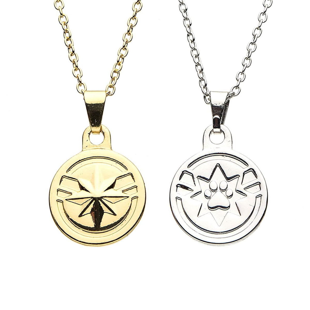 Marvel Captain Marvel & Goose BFF Pendant Necklace Set