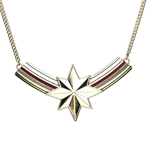Marvel Captain Marvel Logo Curb Chain Necklace
