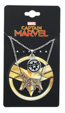 Load image into Gallery viewer, Marvel Captain Marvel Goose Silver 2 Tiered Pendant Necklace
