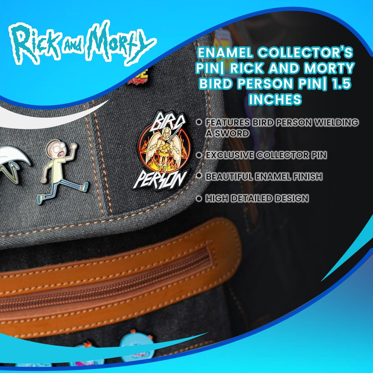 Enamel Collector's Pin| Rick and Morty Bird Person Pin| 1.5 Inches