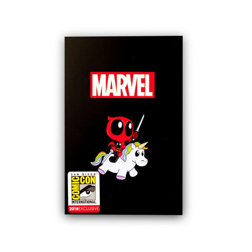 Marvel Deadpool Riding a Unicorn Enamel Pin | Comic Con Exclusive Limited Edition