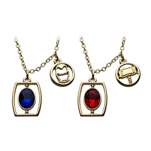 Marvel Infinity Stone Necklace Set | 6 Pieces