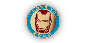 "Marvel Avengers: Endgame Iron Man Exclusive Collector Pin | ""I Love You 3000"""