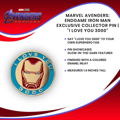 Marvel Avengers: Endgame Iron Man Exclusive Collector Pin |
