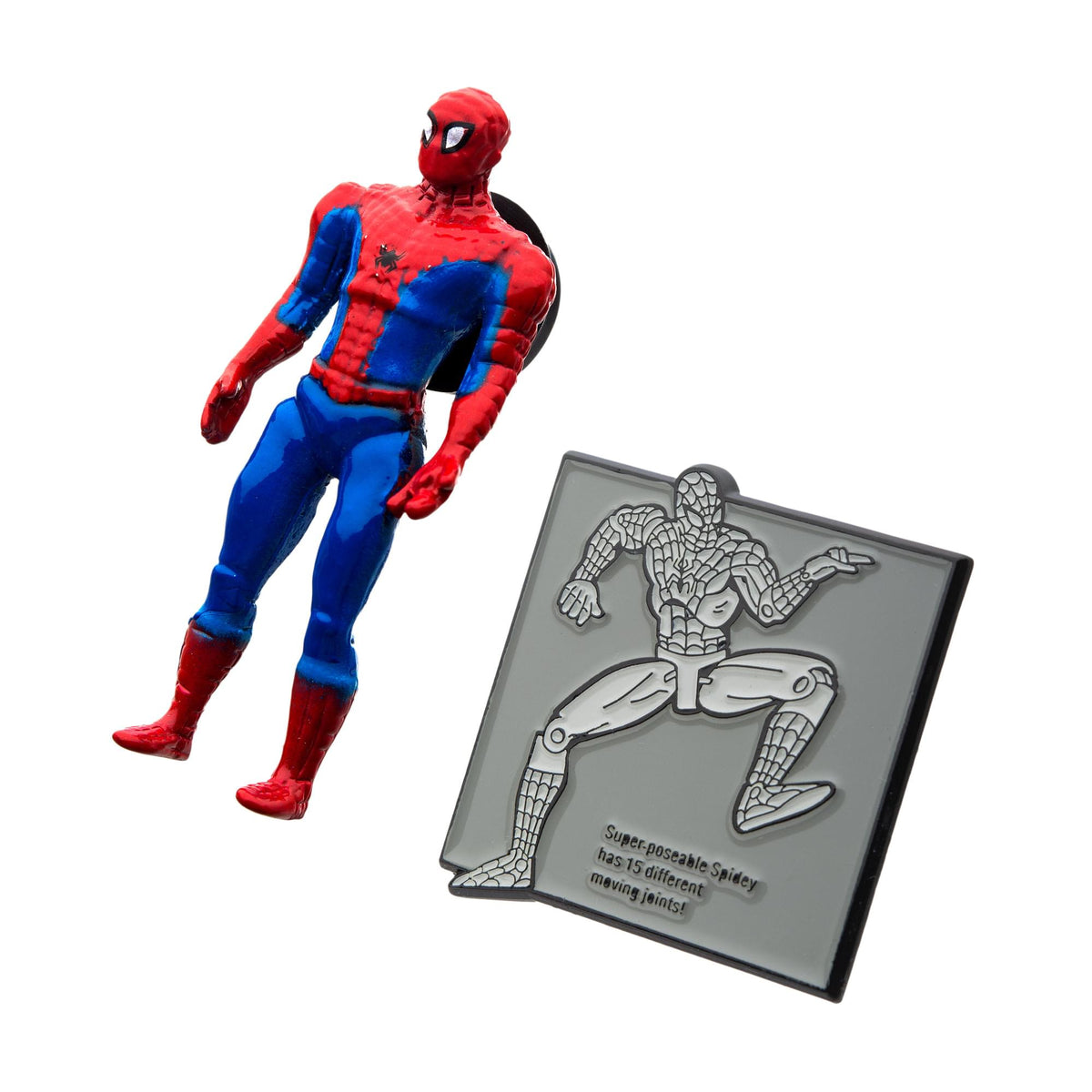 Marvel 80 Years Retro Action Figure Enamel Pin Set | Spider-Man