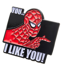 Load image into Gallery viewer, Marvel Spider-Man 60s Show I Like You Enamel Collector Pin
