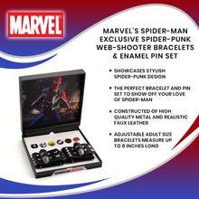 Load image into Gallery viewer, Marvel's Spider-Man Exclusive Spider-Punk Web-Shooter Bracelets & Enamel Pin Set