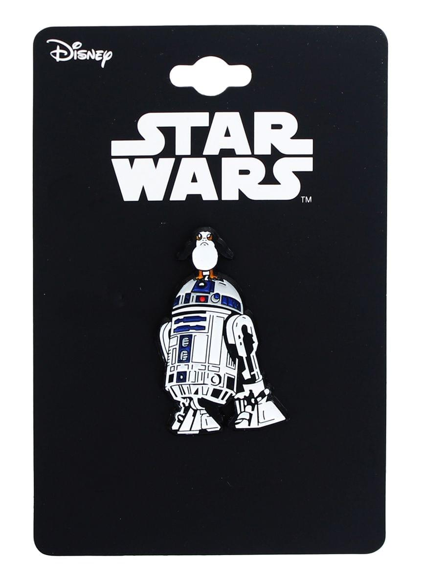 Star Wars: The Last Jedi R2-D2 w/ Porg Enamel Collector Pin