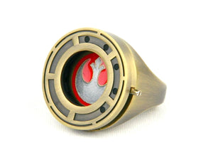Star Wars The Last Jedi Rose Tico's Prop Replica Resistance Ring with Shutter