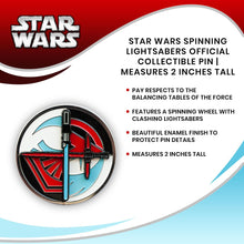 Load image into Gallery viewer, Star Wars Spinning Lightsabers Official Collectible Pin | Measures 2 Inches Tall