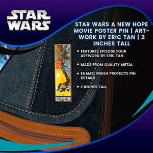 Star Wars A New Hope Movie Poster Pin | Artwork By Eric Tan | 2 Inches Tall