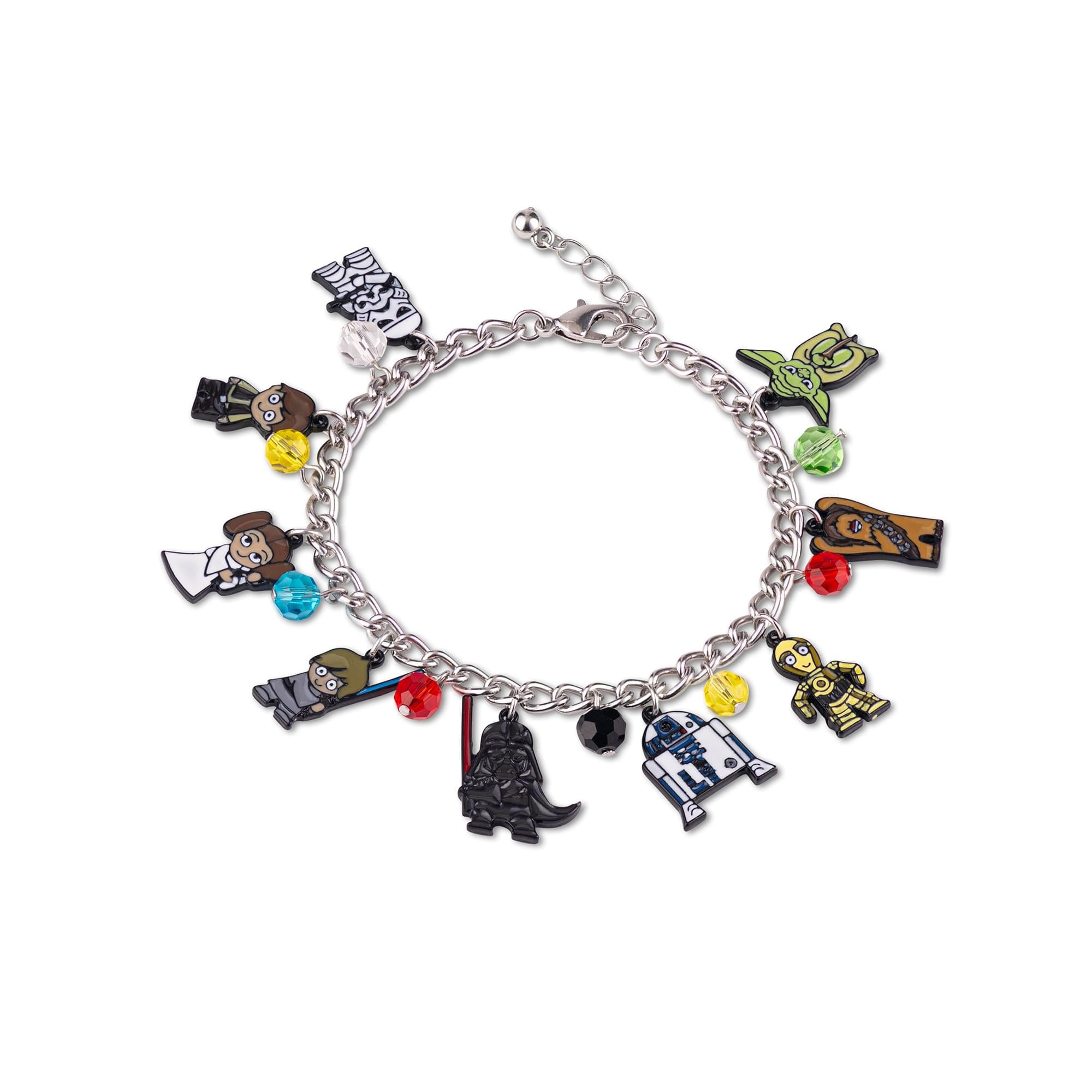 Star Wars Cute 15mm Chibi Characters Pendant Enamel Charms Bracelet Jewelry