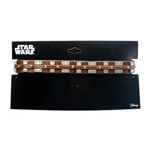 Star Wars Chewbacca Bandolier Stainless Steel & Leather Choker