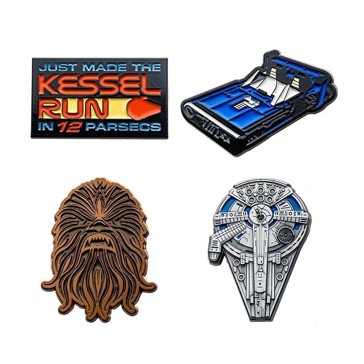 Star Wars Han Solo Collector Enamel Pin 4-Pack